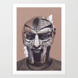 MF DOOM Portrait Art Print