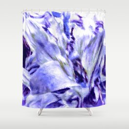 Misty Morning Floral Impressionism Shower Curtain