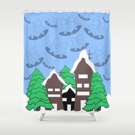 Christmas fantasy Shower Curtain