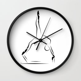 Pilates pose9 Wall Clock