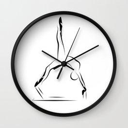 Pilates pose9 Wall Clock