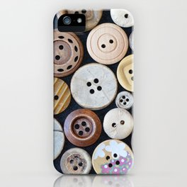 Wooden Buttons iPhone Case
