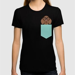 Remy - Daschund with Fashion glasses, hipster glasses, hipster dog, doxie,  T-shirt