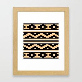 Etnico beige version Framed Art Print