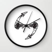 hook Wall Clocks featuring Hook by kartalpaf