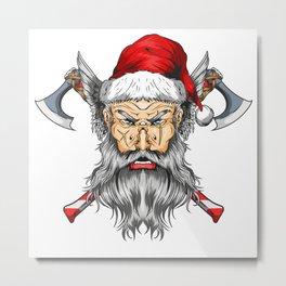 Viking Santa Metal Print
