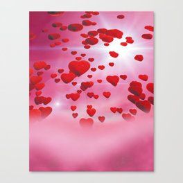 Sky is full of love Canvas Print