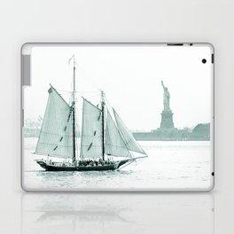Statue of Liberty with Schooner Laptop & iPad Skin