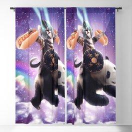 Lazer Warrior Space Cat Riding Panda With Hotdog Blackout Curtain