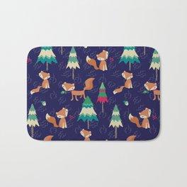 Woodland Foxes Bath Mat