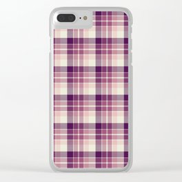 Winter Plaid 5 Clear iPhone Case