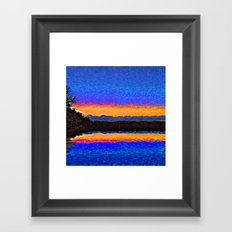 Firefly Lake Framed Art Print
