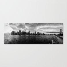 New York Skyline - Black & White Canvas Print