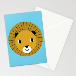 Lion face cute decor for kids boys and girls nursery kids room Stationery Cards