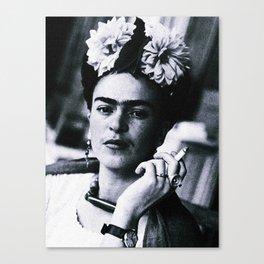 Frida Kahlo Smoke Canvas Print