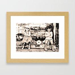 Girls on strike Framed Art Print