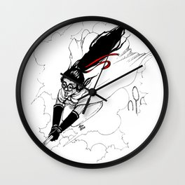 Flying in the Sky Wall Clock