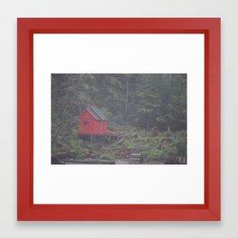 Alaskan Fishing Cabin Framed Art Print