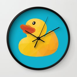 Rubber Duck polygon art Wall Clock