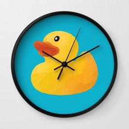 Rubber Duck polygon art Wall Clock