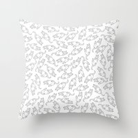 eat Throw Pillows featuring Eat! by anetambiel