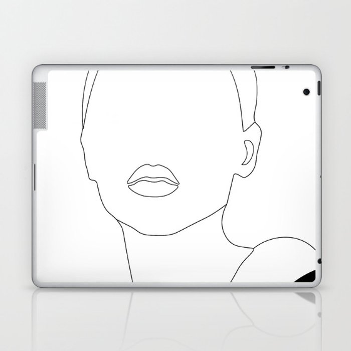 Elegant Woman Portrait Laptop & iPad Skin