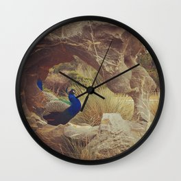 Feathers and Formations Wall Clock