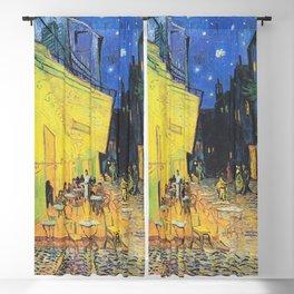 Café Terrace at Night by Vincent van Gogh Blackout Curtain