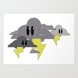 cloud mouths Art Print