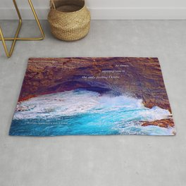 """Kauai's Land's End #9"" with poem: At Times Rug"