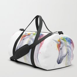 Rainbow Unicorn Watercolor Duffle Bag