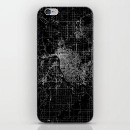 Tulsa map Oklahoma iPhone Skin