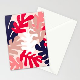 Pink Floral Cutouts Pattern Stationery Cards