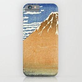 Katsushika Hokusai - Fine Wind, Clear Morning.The Red Fuji iPhone Case