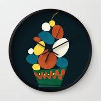 dessert Wall Clocks featuring Dessert by Picomodi