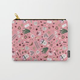 Pink Pastel Valentine Pattern Carry-All Pouch