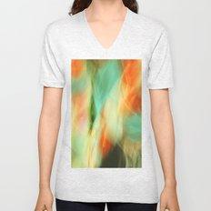 Abstract Art II Blue/Black/Green/Red Unisex V-Neck