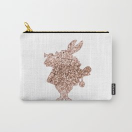 Sparkling rose gold Mr Rabbit Carry-All Pouch