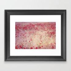 Fields of poppies Framed Art Print