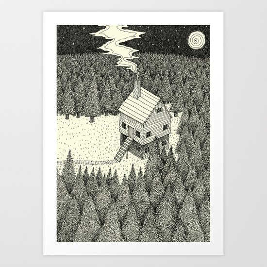'The Middle Of Nowhere'  Art Print