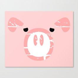 Cute Pink Pig face Canvas Print