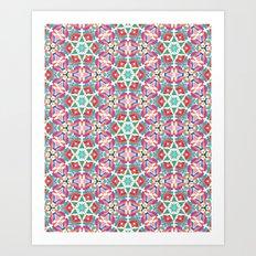 Watercolor Boho Dash 1 Art Print