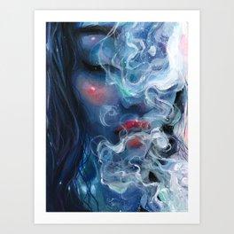 Blissful Blue Art Print