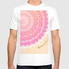 FAIRY MANDALA White MEDIUM Mens Fitted Tee