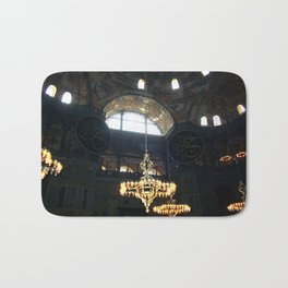 Hagia Sophia Decorated Dome and Ottoman Chandeliers Bath Mat