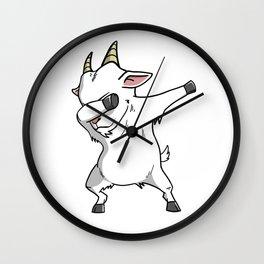 Funny Goat Dabbing Wall Clock