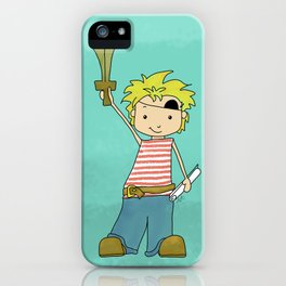 Always Time For Treasure! Pirate Boy iPhone Case
