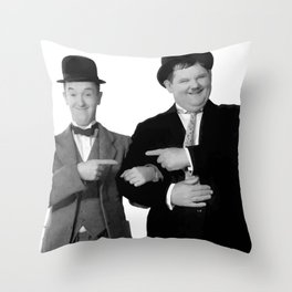 Mr Stan Laurel and Mr Oliver Hardy Throw Pillow