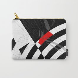 black and white meets red Version 8 Carry-All Pouch