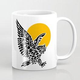 Great horned owl tribal tattoo Coffee Mug